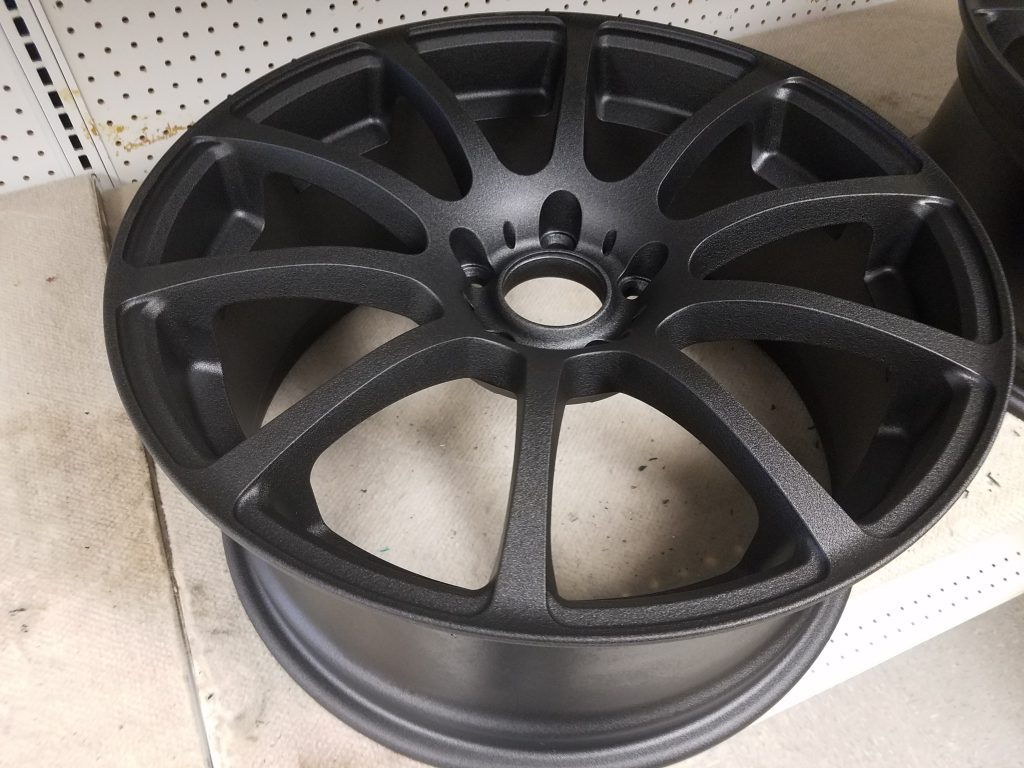 Custom Car Rim Powder Coating (flat black)